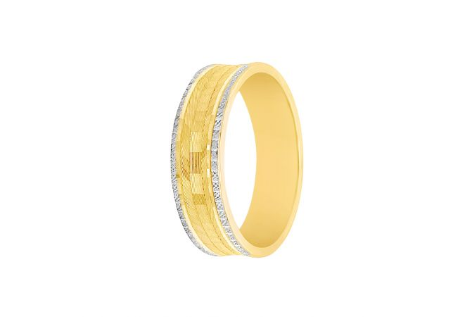 Stylish Textured Gold Band For Him