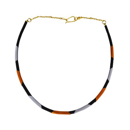 Trendy Synthetic Fiber Gold Chain