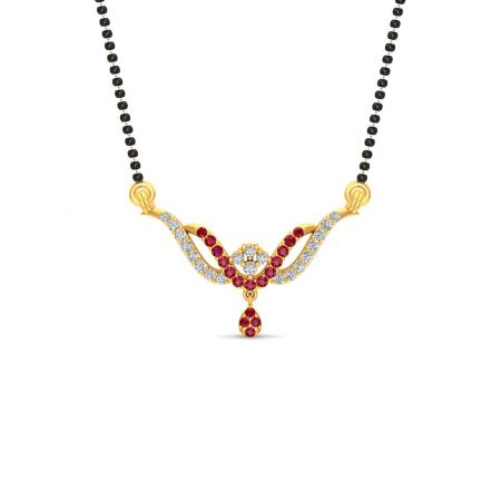 Glossy Finish Wings Design CZ Studded With Synthetic Colour Stone Gold Tanmaniya