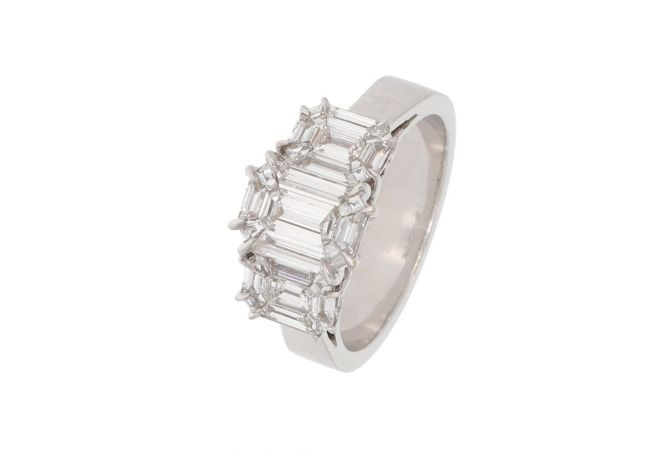 Elegant Design Studded With Pie Cut Diamond Ring-HLR766-8045-7615-001