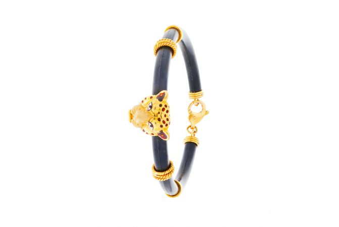 Trendy Panther Silicon Bracelet