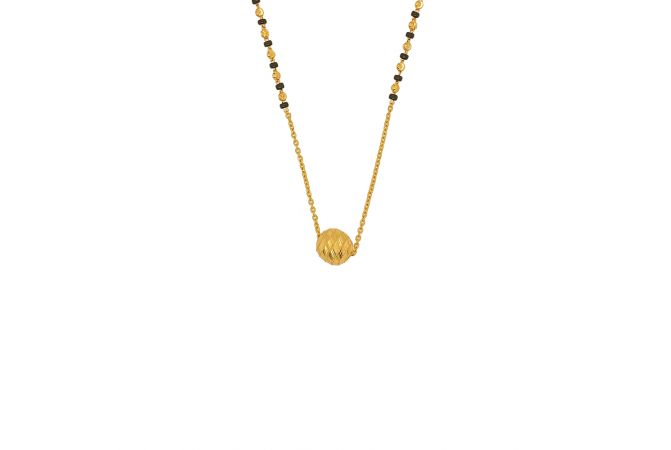 Delicate Textured Bead Ball Gold Mangalsutra