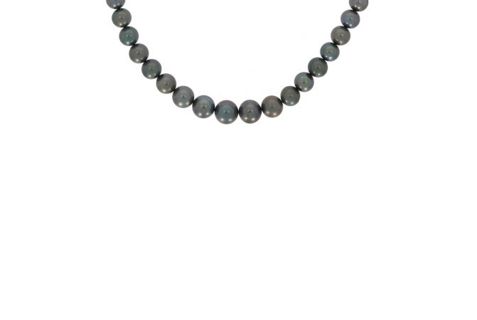 Black Natural Pearl Single Layer Necklace