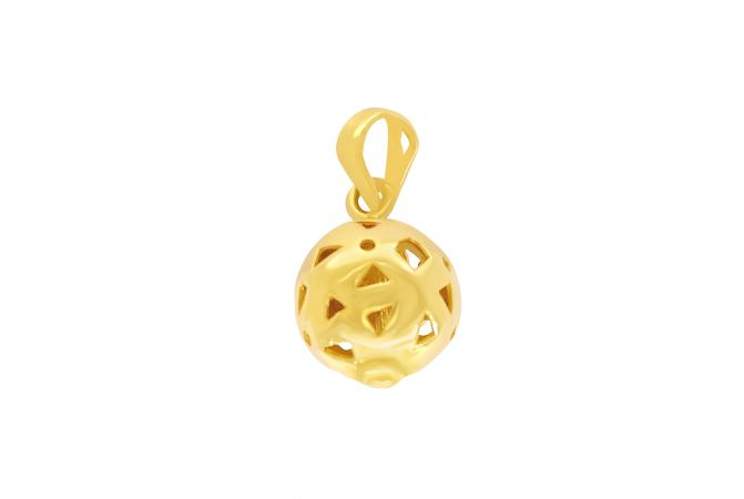 Charming Cutout Gold Ball Pendant