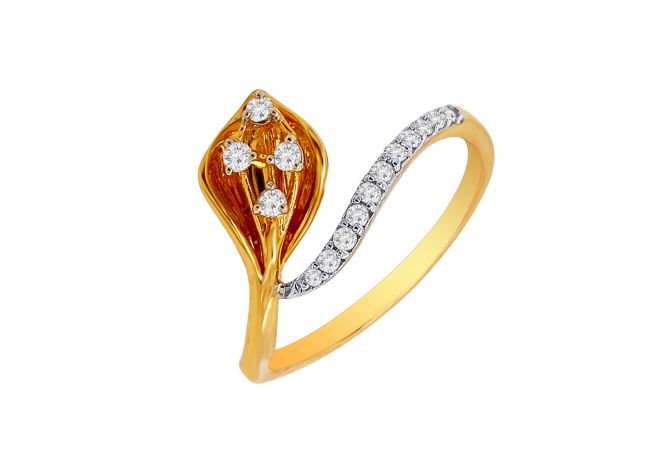 Elegant Asiatic Lily Diamond Ring