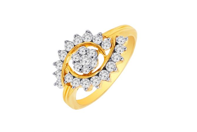 Sparkling Daily Wear Floral Diamond Ring