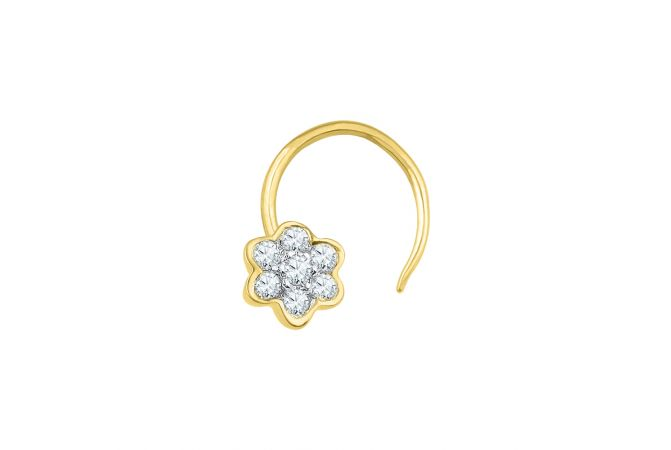 Enlight Floral Diamond Nose Pin