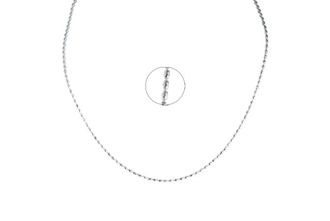 Diamond Cut Beads Platinum chain