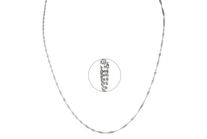 Thin Curblinks Platinum chain
