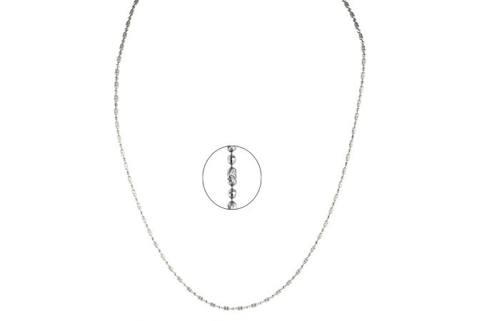 Oval With Circle Hole Platinum chain
