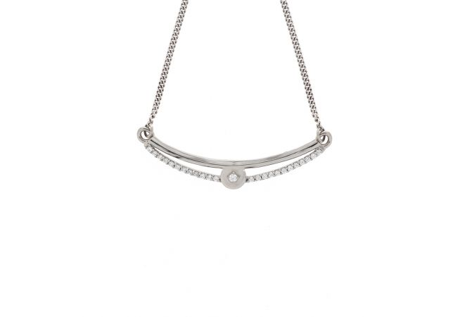 Elegant Swarovski Diamond Platinum Chain Necklet