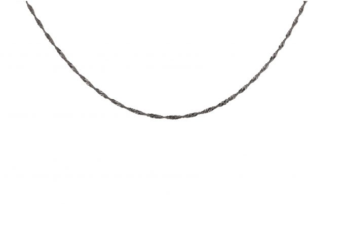 Glossy Twisted Platinum Thin Chain-PTCH-1