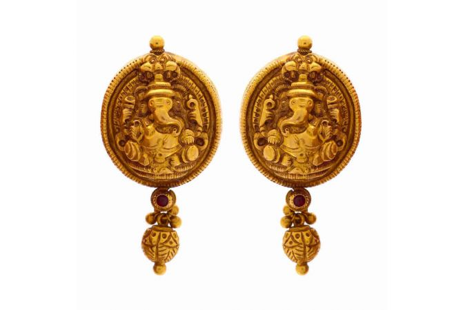 Antique Lord Ganesh Earring