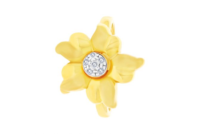 Blooming Floral CZ Gold Ring