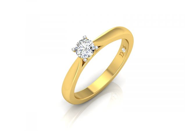 Sleek Classic Women's Solitaire Ring