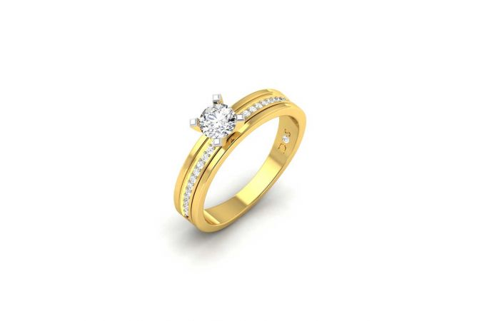 Evergreen Four Prong Set Solitaire Diamond Band Ring