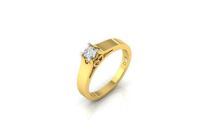 Infinity Design Four Prong Set Solitaire Diamond Ring