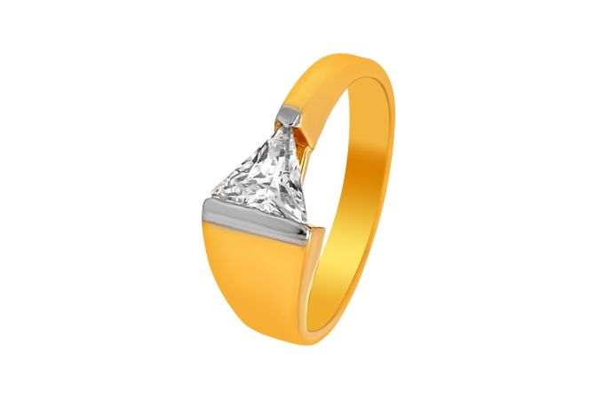 Charismatic Trillion CZ Ring For Him