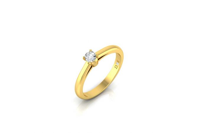 Elegant Glossy Finish Stunning Solitaire Mens Ring