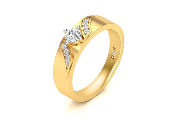 0.40 Carats Four Prong Setting Solitaire Ring For Him