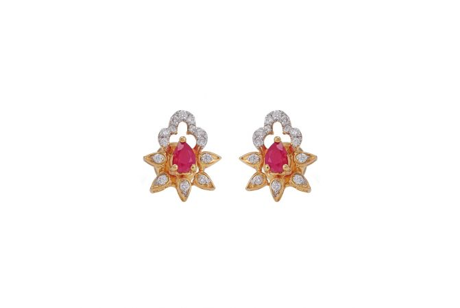 Elegant Gemstone Diamond Earrings