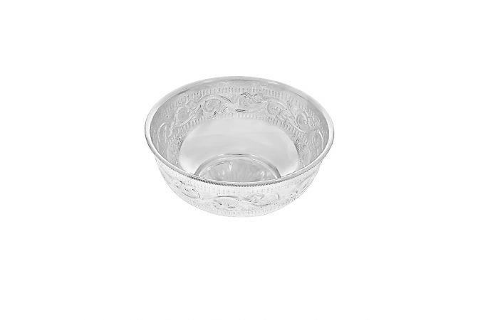 Design Engraved Silver Katori (Bowl)