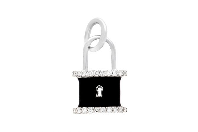 Charm Lock Diamond Pendant