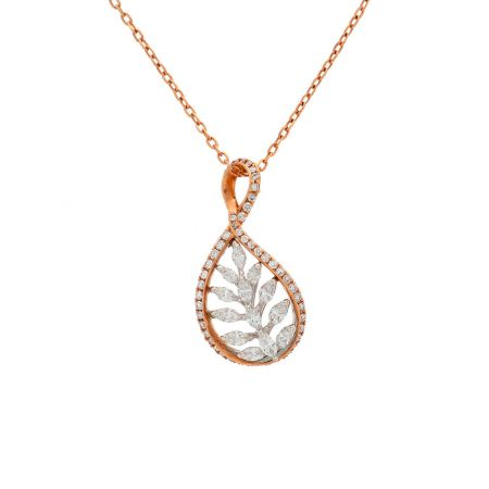 Glorious Twisted Diamond Pendant