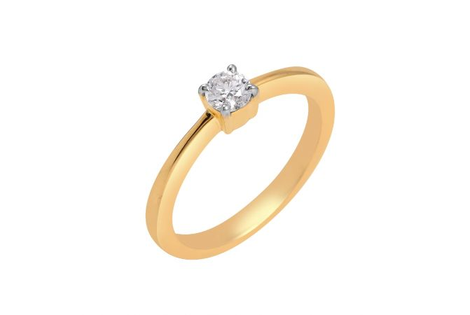 Delicate Single Diamond Ring