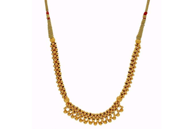 Matte Glossy Finish Thushi Gold Necklace-TH234