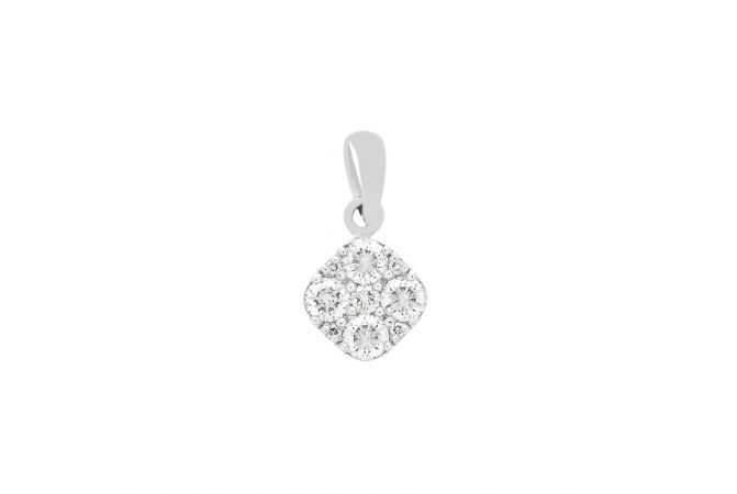 Crystal Cushion Diamond Pendant