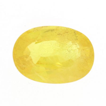 Oval Cut Yellow Natural Sapphire