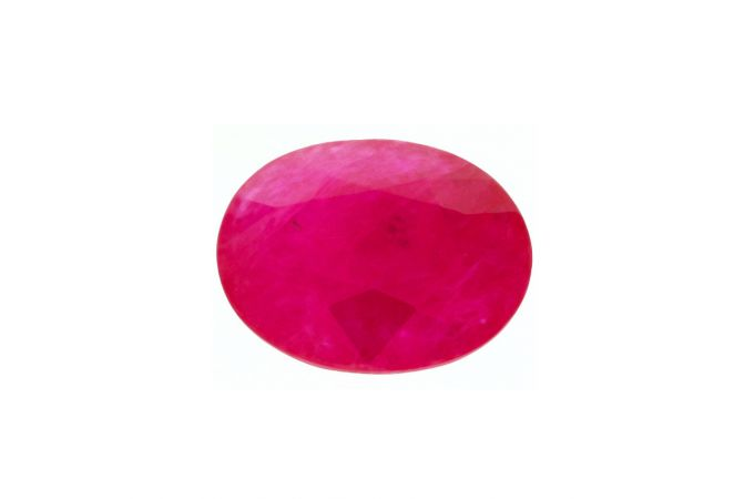 Oval Cut Red Natural Ruby