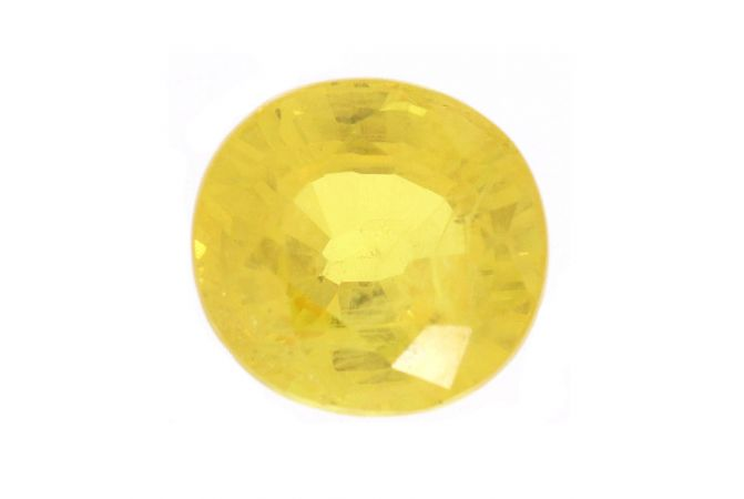 Round Cut Yellow Natural Sapphire