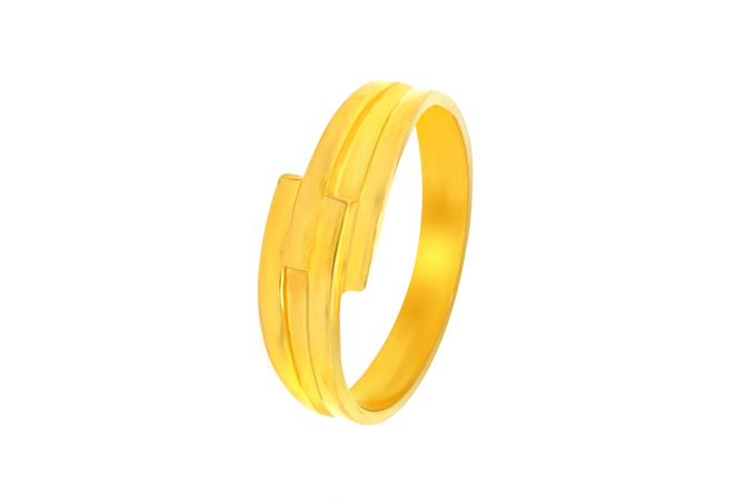 Engaging Gold Band For Him