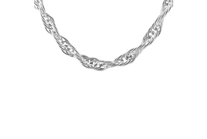 Stylish Silver Chain For Men-CBX160