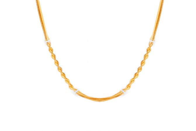 22kt Gold Multi layer knot Chain - CH-18
