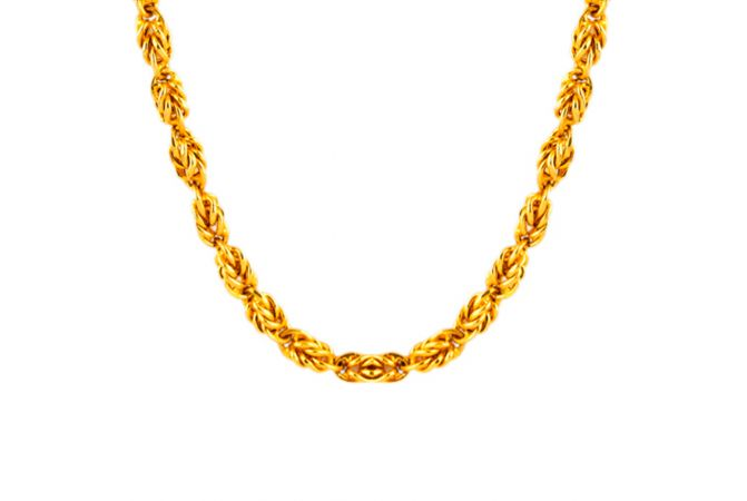 22kt Gold Queen Holo Links Chain - CH-225