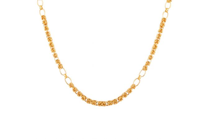 22kt Gold Kings Holo Links Chain - CH-97