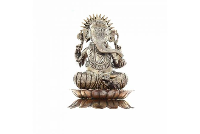 Silver 700 Lord Ganesha Artifacts Murti