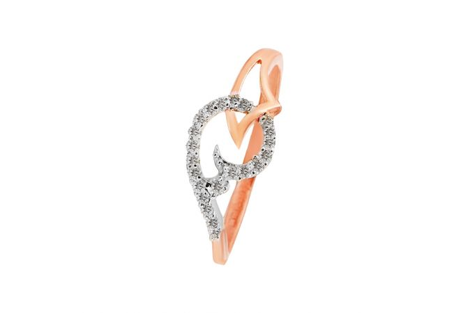 Love Know Diamond Rose Gold  Ring - DR3664