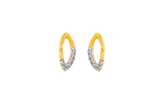 Elegant Cluster Diamond Earrings
