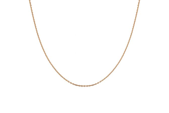 Glossy Finish Curb Links Gold Chain - PGC00217