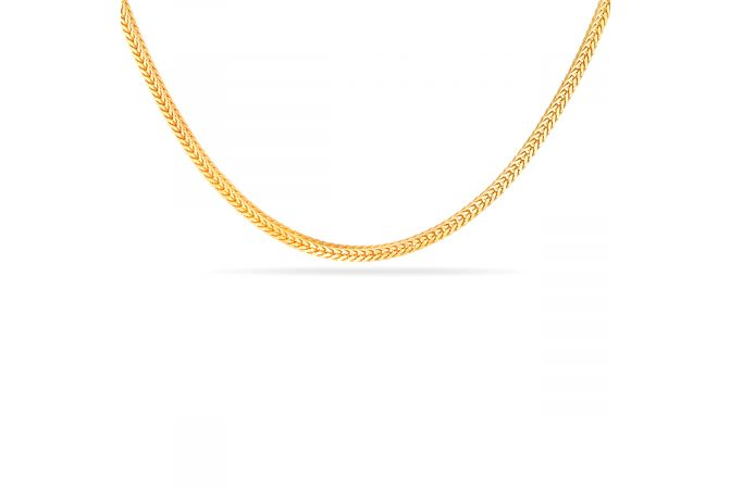 V Cut 22kt Gold Chain With Hallmark! - SVTM-105-0212