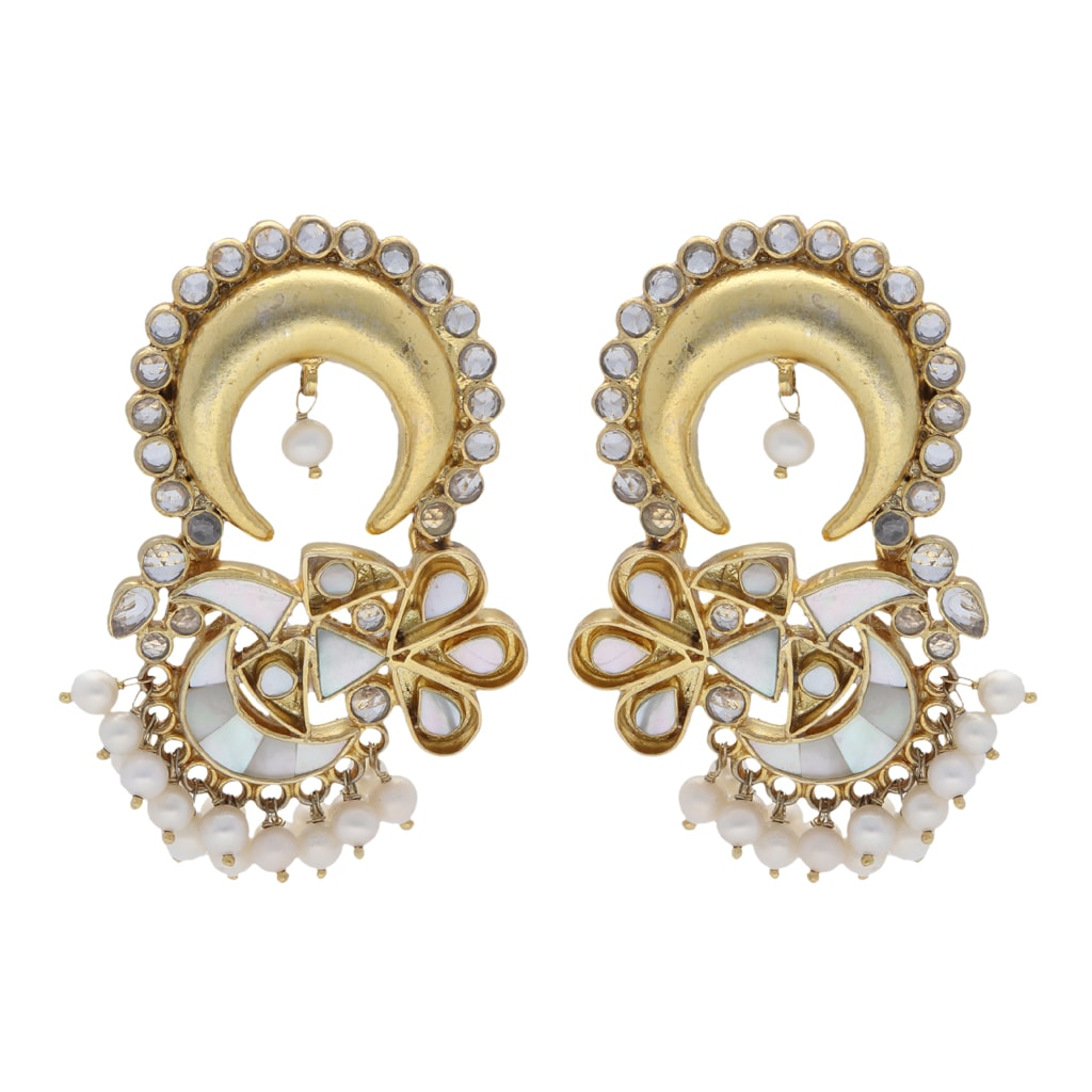 Silver Gold Plated Newly Designed Earrings