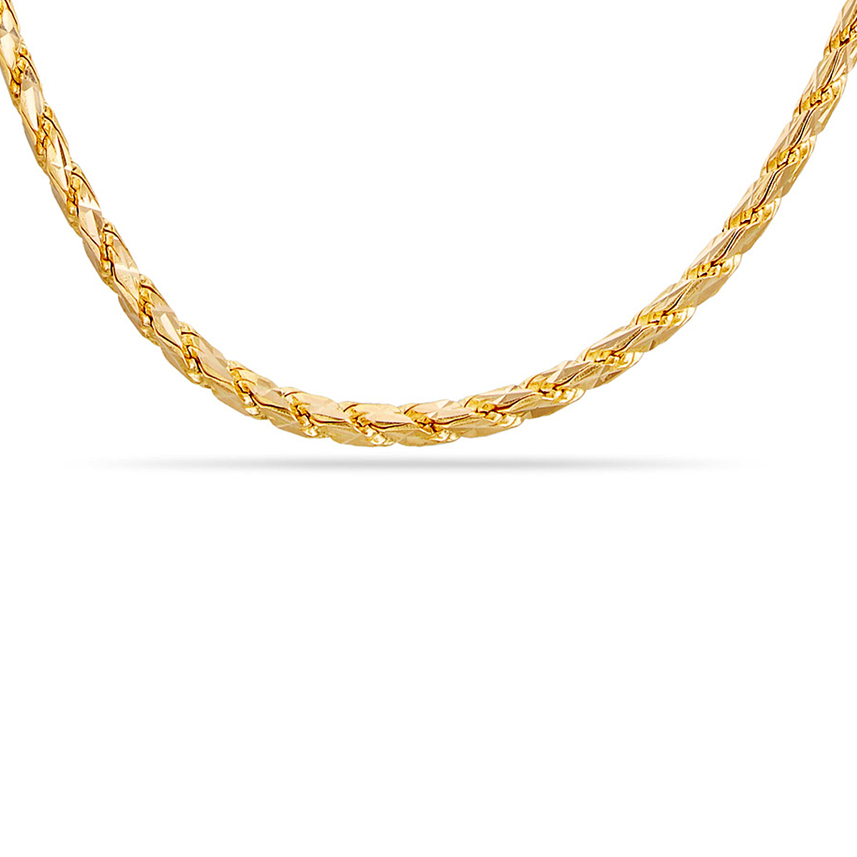 Square Rope Chain With Hallmark  - SVTM-105-0051